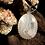 Thumbnail: White Plume Agate 25x18 MM Cage Pendant
