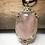 Thumbnail: Rose Quartz 25x18 MM Victorian Pendant