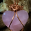 Thumbnail: Medium Rose Quartz Heart Copper Wire Wrap Pendant