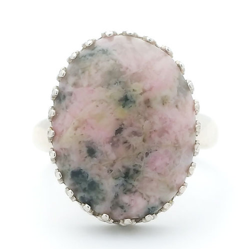 Rhodonite 18x13 MM Ring