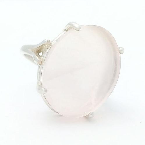 Rose Quartz 18x13 MM Ring