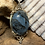 Thumbnail: Indigo Gabbro 25x18 MM Victorian Pendant