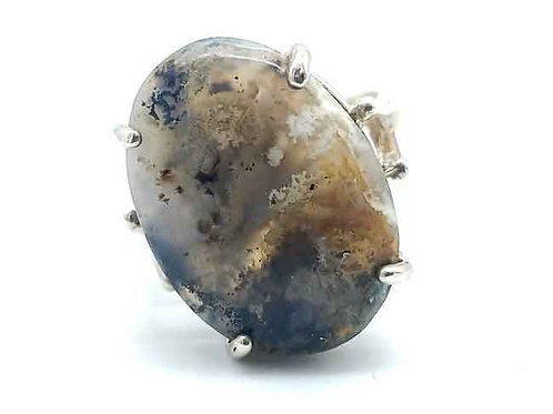 Plume Agate 18x13 MM Ring
