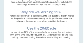 Lessons in Project-Based Learning