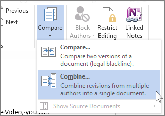 Combine Document Revisions