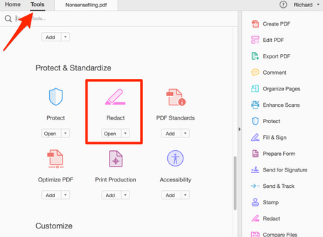 How to redact in Adobe Acrobat