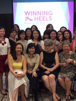 Winning in Heels Boomerang