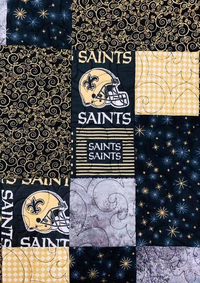 Saints Quilt Closeup