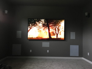 "85"" TV in Theater"