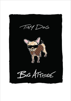 Chihuahua Wearing Sunglasses And Coat,Tiny Dog Big Attitude A4 Funny Print, How Funny Prints, Funny Wall Art, Humour Print