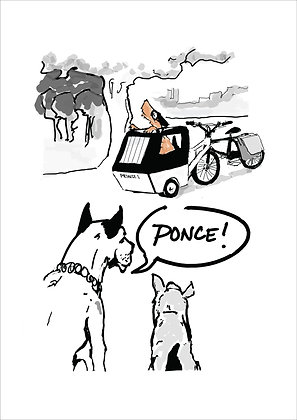Dog In Park Calling Other Dog Ponce,Dogs On Sofa Funny Print, How Funny Prints, Funny Wall Art, Humour Print