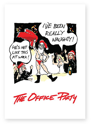 Wild Christmas office party stripper scene, THE OFFICE PARTY FUNNY CARD, HOW FUNNY GREETING CARD