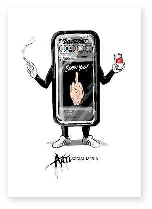 mobile phone, smart phone, middle finger, rude, anti-social, funny card, how funny