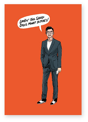 CRAZY RICH ASIAN, ASIAN, SUIT, SUNGLASSES, SMUG, FUNNY CARD, HOW FUNNY