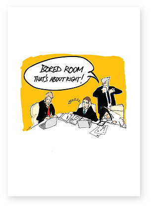 Bored business people meeting in board room, BORED ROOM FUNNY CARD, HOW FUNNY GREETING CARD