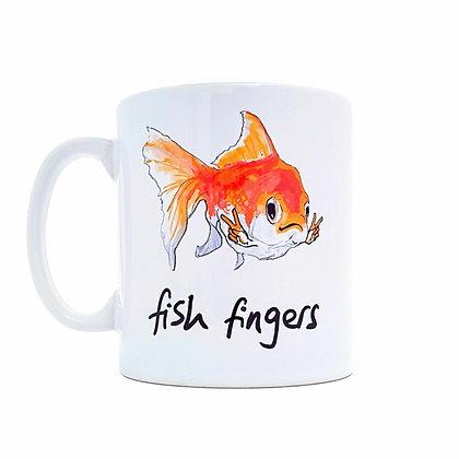 Fish fingers mug, Funny mug, fishing mug, goldfish mug, mug, funny gift, mugs, funny, how funny,gift,  cup, gift idea,
