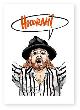KEITH LEMON, HOORAH!, STRIPPED SHIRT, FUNNY CARD, HOW FUNNY