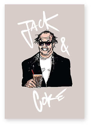 JACK NICHOLSON, COKE, DRINK, SUNGLASSES, DRUGS, FUNNY CARD, HOW FUNNY