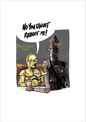 C3PO ON A DATE, GOLD ROBOT, STAR WARS