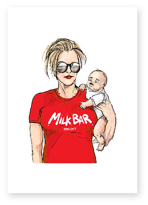 MOTHER, BABY, BREAST FEEDING, NEW MOTHER, FUNNY CARD, HOW FUNNY