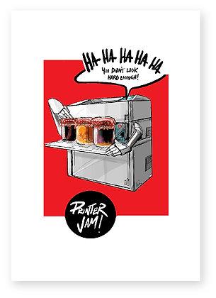 printer pots of jam printer jam funny card how funny