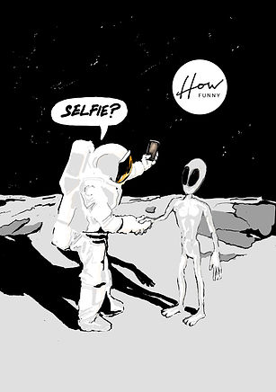 Astronaut Selfie, Selfie, Contact, Alien Contact