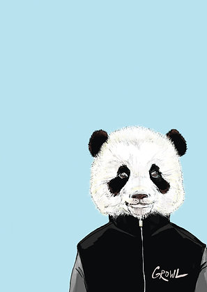 Baby Panda In Bomber Jacket, Panda Style A4 Funny Print, How Funny Prints, Funny Wall Art, Humour Print