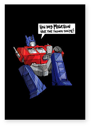 Transformer, Autobot, Optimus prime, instagram, funny card, how funny