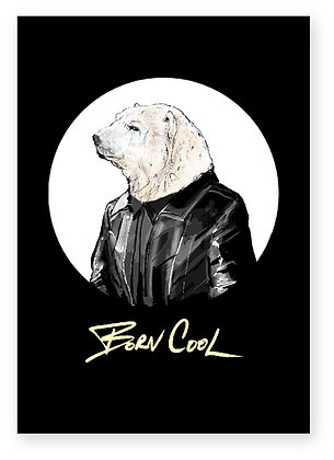polar bear cool bear funny animal card how funny