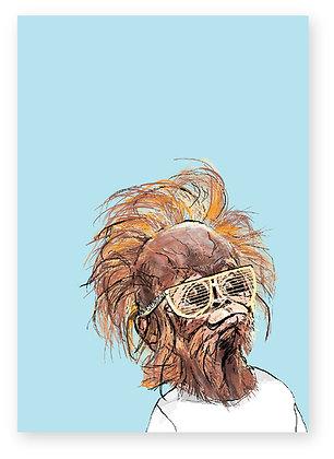 Baby orangutan wearing cool sunglasses, Baby Tang FUNNY CARD, HOW FUNNY GREETING CARD