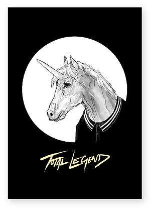 Unicorn, legend, fred perry polo, funny card, how funny