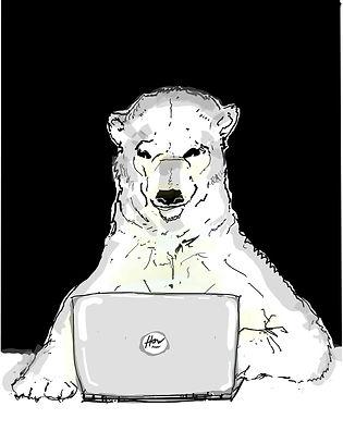 Polar Bear On How Funny Laptop