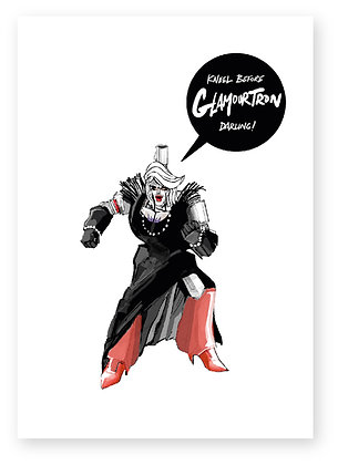 GLAMOUR, DRAG QUEEN, PRIDE, GAY, TRANSFORMER, MEGATRON, FUNNY CARD, HOW FUNNY