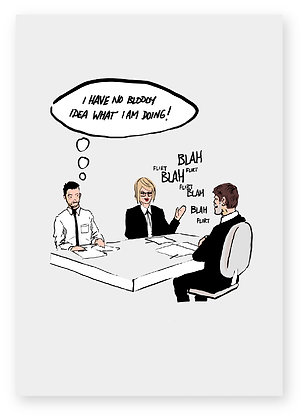 man at work, meeting, office, funny card, JOB, how funny