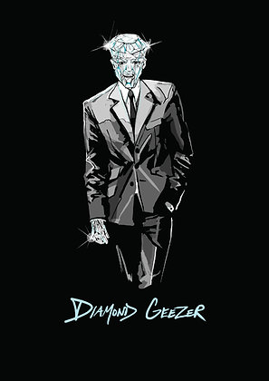 Diamond Geezer In A Suit A4 Funny Print, How Funny Prints, Funny Wall Art, Humour Print