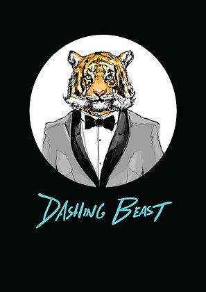 Tiger Wearing Bow Tie And Tuxedo,Dashing Beast A4 Funny Print, How Funny Prints, Funny Wall Art, Humour Print