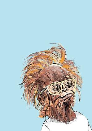 Baby Orangutan In Sunglasses, Baby Tang A4 Funny Print, How Funny Prints, Funny Wall Art, Humour Print