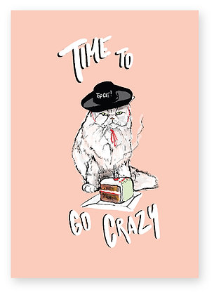 CAT IN HAT, CAKE, BIRTHDAY CAKE, CRAZY, FUNNY CARD, HOW FUNNY