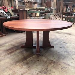 Round Jarrah Dining Table