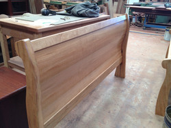 Sleigh bed footboard