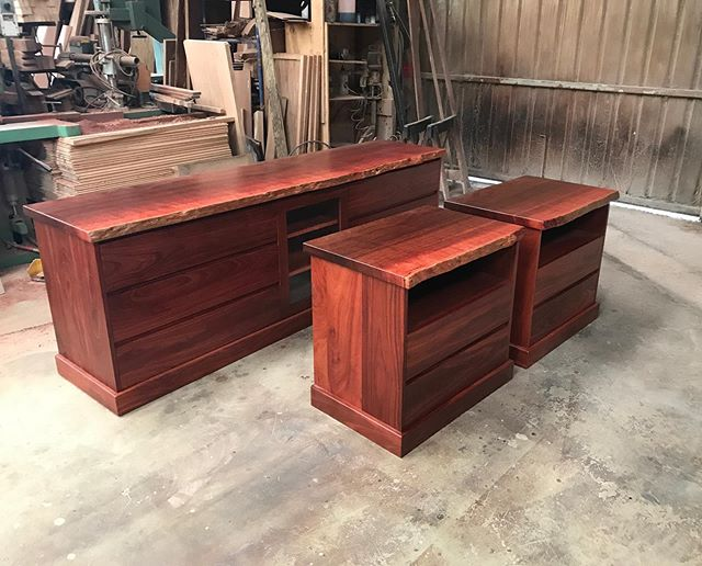Large bedside tables and drawers