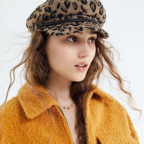 Leopard Fiddler Cap - Brixton