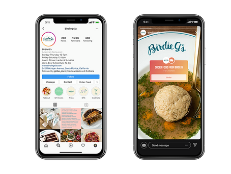 """Instagram Adds """"Order Now"""" Button on Restaurant Accounts"""
