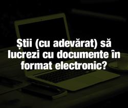 DOCUMENTE ELECTRONICE