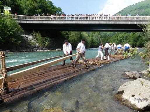 Radelage sur le pont D'OSSE-en- ASPE, dimanche 1er Juillet