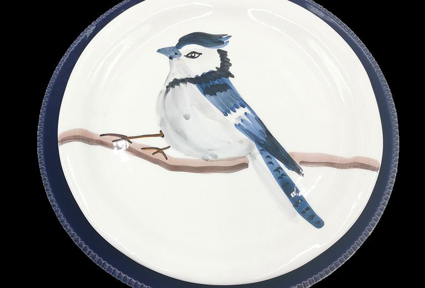Lot de 4 assiettes plates | Geai bleu & Colori di Puglia Bleu nuit