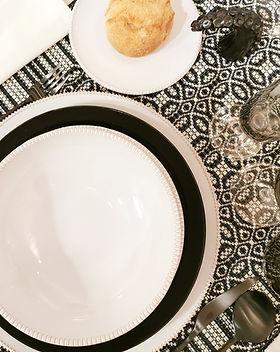Art de la table | Céramique | Assiettes Noir & Blanc | Enza Fasano
