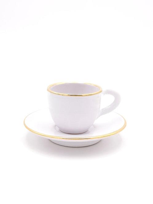 Tasses & soucoupes | Bord doré | Blanc | à partir de 33 €