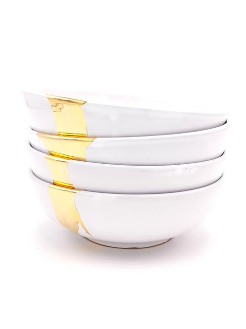 Bols & saladiers | Blanc splash or | à partir de 41 €