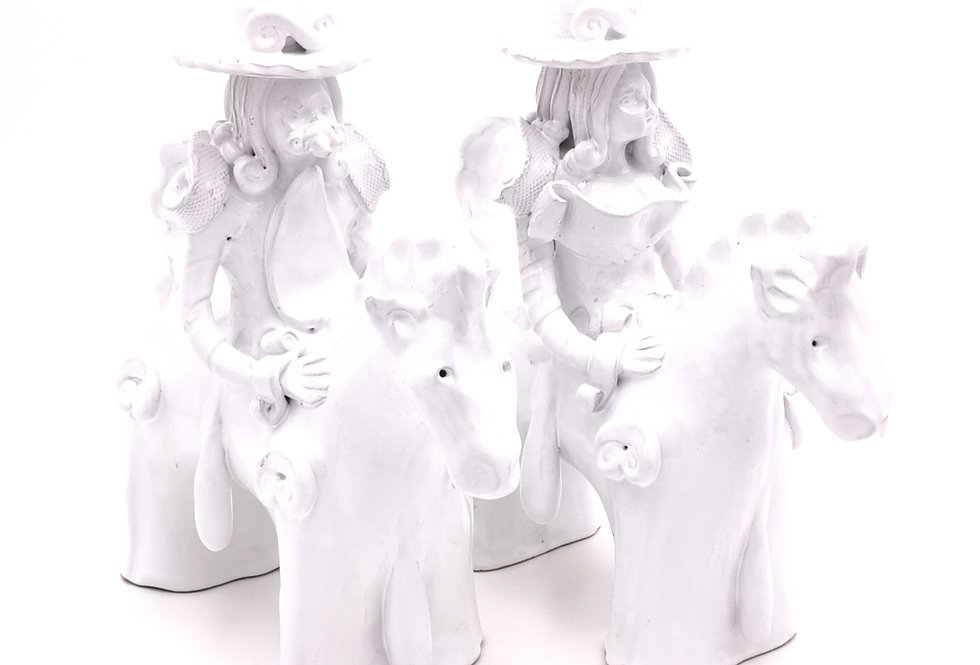Chandelier Cavalier Simple   Blanc   à partir de 210 €